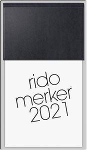 """rido idé Tischkalender """"Merker Miradur"""" 2021 108 x 201 mm schwarz 368 Seiten"""