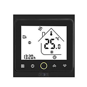 Smart Thermostat Intellight Temperaturregler 5A Wasser- / Gaskessel-Thermostate fuer zu Hause Kein WLAN - Schwarz