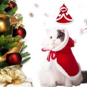 Melario Hund Katze Kostüm Weihnachten Umhang Verkleidung Kleidung für Katzen Anzug Größe: M