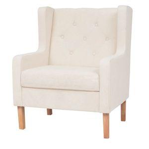 Relaxsessel Sessel Fernsehsessel | Aufstehsessel Loungesessel Armlehnensessel Eleganter Cremeweiß Stoff - 7332