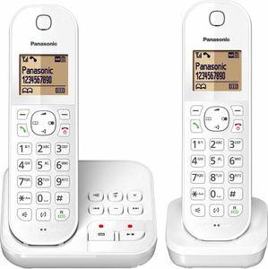 Panasonic DECT KX-TGC422, Anrufbeantworter, Strahlungsarm, Farbe: Weiß
