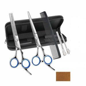 7 Stk Friseurscheren Set im Etui Solingen Kamm Haarschere Effilierschere Schnitt