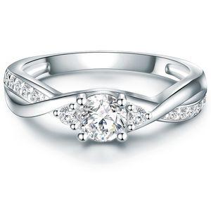 Ring Sterling Silber Zirkonia weiß 52