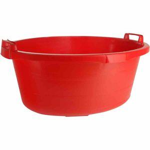 Wanne oval 65 cm/40 l rot hochstehende Griffe