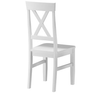Küchenstuhl Massivholzstuhl Esszimmerstuhl Kiefer Stuhl 90.71-23, Holzart / Holzfarbe:Kiefer weiß