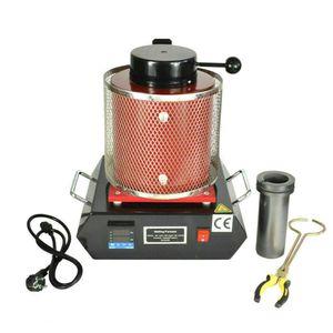 3 kg elektrischer Schmelzofen Tiegelofen Metallschmelzofen  PID 1600W 1150 ℃ 220V