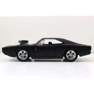 Jadatoys 1:24 Modellauto Dodge Charger Fast and Furious 7 matt schwarz
