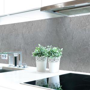 Küchenrückwand Steinwand Hellgrau Premium Hart-PVC 0,4 mm selbstklebend - Direkt auf die Fliesen, Größe:60 x 51 cm