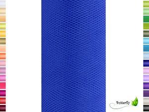 9m Rolle Tüll 15cm, Farbauswahl:blau 352 / königsblau / royalblau