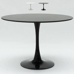 Tisch 120 cm Rund Schwarz-Weiß für Wohnzimmer Bar Küche Restaurant TulipFarbe: Schwarz, Höhe (cm): 73.5, Breite (cm): 120, Tiefe (cm): 120, Zusammensetzung: MDF, Modelle: TULIP 120, Länge (cm): 120, Tischform: Round