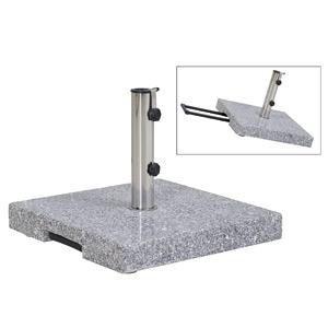 Schirmständer Granit 55kg mit Griff und Rollen