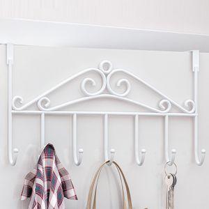 Über Tür Haken Wandhalter Handtuch Aufbewahrung Für Mäntel Jacken Robe Farbe Weiß