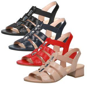 Caprice Damen Sandalen Sandaletten Leder 9-28200-26, Größe:40 EU, Farbe:Blau