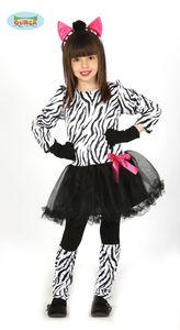 süßes Zebra Kostüm für Mädchen Gr. 98-146, Größe:98/104