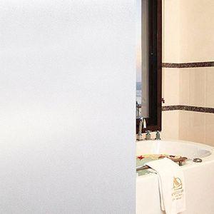 Milchglasfolie Fensterfolie Milchglas Duschkabinen Blickdicht Folie Fenster Selbstklebend Sichtschutzfolie Sichtschutz Statisch Haftend Glasdekor Milchglas S001 (60x100cm) mit Gratis Rakel