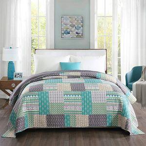 Tagesdecke Patchwork für Doppelbetten : 170 x 210 cm