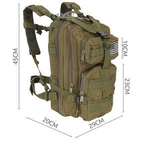 Militär Rucksack 20L / 35L Trekkingrucksack Outdoor Camping Molle 4 Farben 8915, Farbe:Grün, Größe:20 L