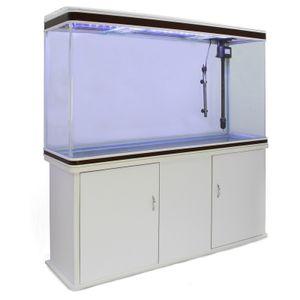 300L Aquarium Komplettset mit Unterschrank - Weiss