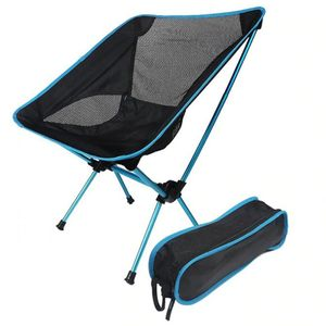 Klappbare Campingstühle,Leichte tragbare Stühle Kompakte Rucksack-Campingstühle für Outdoor,Angeln,Wandern,Strand,Picknicks(Himmelblau)