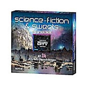 ROTH Science Fiction-Adventskalender mit Science Fiction-Lesespaß und 24xSweets, 35cm x 35cm x 4cm