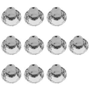 10er-Set Glas Diamant Möbelknopf Möbelknöpfe Möbelknäufe Knauf für klar 30 mm Türgriffgriff ziehen