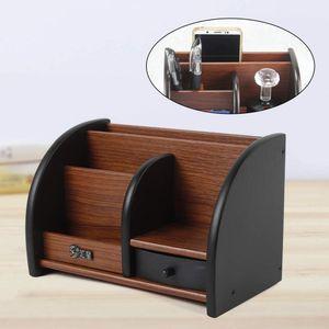 DIY Schreibtisch Organizer Stifthalter Schreibtischständer Schreibtischorganizer mit Schublade 20x11.8x13.5cm