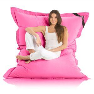 Original LAZY BAG Indoor & Outdoor Sitzsack XXL 400L Riesensitzsack Sitzkissen Sessel für Kinder & Erwachsene 180x140cm - Pink