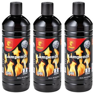 Flash 3 Liter Lampenöl Gartenfackel neutral klar Petroleumlampe Öllampe Laterne (5,33€/l)