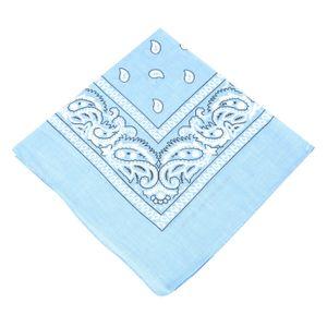 Paisley Bandana Halstuch Kopfbedeckung/Haar Band Schal Hals Handgelenk wickeln Band Headtie (Sky Blue)