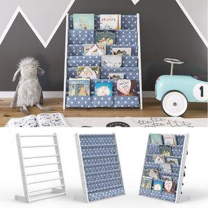 VICCO Kinderregal Weiß Kinderzimmerregal Spielzeugregal Hängefach-Bücherregal