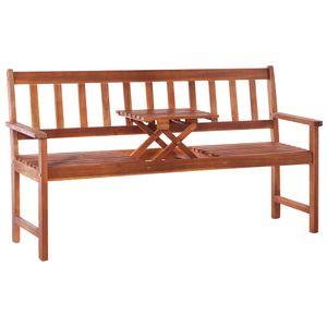 Eleganter- 3-Sitzer-Gartenbank,Sitzbank,Gartenmöbel,Parkbank,1-3-Personen mit Tisch 158 cm Massivholz Akazie Braun🦩8787