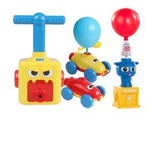 Spaß Trägheit Ballon angetriebenes Auto Spielzeug Aerodynamik Trägheitskraft Kinder Geschenke Tren