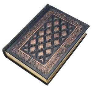 Leder Journal Classic Tagebücher Retro Plaid Leder Schwarz Golden Gerahmte Notizbuch Tagebücher Tagebuch Briefpapier