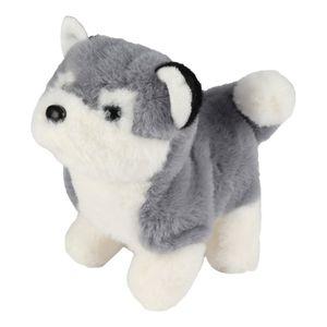 Roboter-Spielzeug-Hund, elektronisches Hundespielzeug, Plüschtier-Hundespielzeug, Welpen-Plüsch-animierter Hund, Roboter-Hund für Jungen Mädchen Farbe Huskie