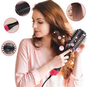 Hikeren 4 IN 1 Multifunktionaler Negativer Haarbürsten, Warmluftbürste,geeignet für alle Frisuren, nass und trocken