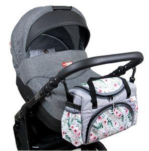 BabyLux Wickeltasche Kinderwagentasche Pflegetasche S3 73. Blumen