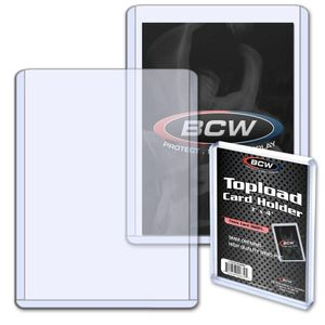 BCW Topload 3'x4' 7,5 x 10 cm (Thick Cards 360 pt.)