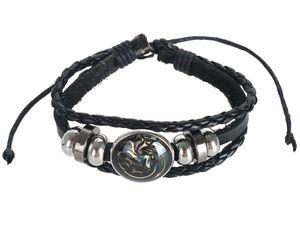 Game of Thrones Wickelarmband aus Leder | Armband mit Wappen von Haus Targaryen
