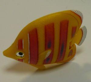 Wassersäulen Zubehör Fisch gelb rote Streifen -#3181
