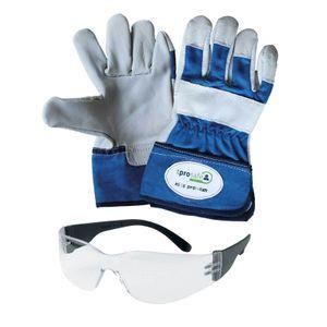 Junior-Set - tprosafe kids premium Kinderhandschuhe, Kinderhandschuh - kleine Handschuhe + Schutzbrille für Kinder
