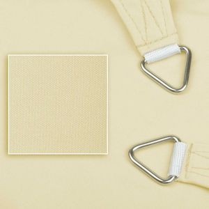 Sonnensegel aus 100% Polyester, Farbe:creme, Größe:5 x 5 x 5 m, Form:Dreieck