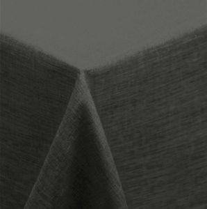 Tischdecke 130x160 cm anthrazit eckig Leinenoptik wasserabweisend beschichtet
