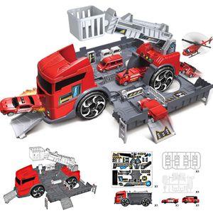 1:24 Kinder Puzzle Spielzeug LKW Autos Fahrzeug Lagerung Parkplatz Feuerwehr Set