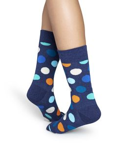 Happy Socks Big Dots Socken Dunkelblau, Größe:36-40