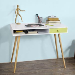 SoBuy® Schreibtisch,Bürotisch,Computertisch,Kinderschreibtisch, MDF, FWT24-W