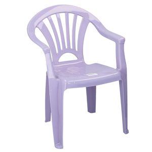 Kunststoff Stuhl für Kinder Farbe Lila / Fliederfarben - Sitzhöhe 28 cm - ideal für Kinderzimmer, Garten Terrasse, Party