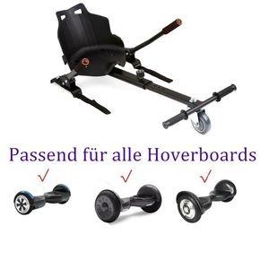 "Hoverkart Hoverboard Hoverseat Für 6,5""/8""/8,5""/10 Zoll Elektro Scooter 2 Räder E-skateboard-Schwarz"