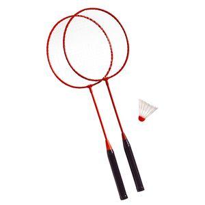 Best Sporting Badminton-Set 2 Schläger mit Federball
