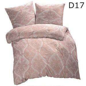 4 tlg Warme Microfaser Fleece Winter Bettwäsche 135x200 + 80x80 viel Auswahl, Design - Motiv:Design 17
