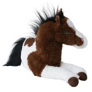 TE-Trend Pferd Plüschpferd liegend Anhänger braun-weißes Kuscheltier mit 33 cm Länge